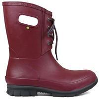 Burgundy Bogs Amanda Plush Lace Boot Womens