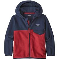 Patagonia Baby Micro D Snap-T Jacket - Youth - Fire with New Navy (FRNE)