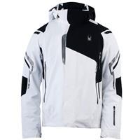 White / Black / Black Spyder Bromont Jacket Mens