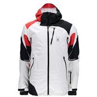 White / Black / Volcano Spyder Leader Jacket Mens