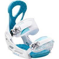 White / Blue Burton Stiletto EST Snowboard Bindings Womens