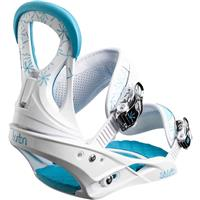 White / Blue Burton Stiletto Snowboard Bindings Womens