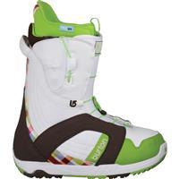 White / Brown / Green Burton Mint Snowboard Boots Womens