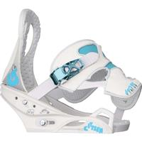 White Burton Citizen One Up Snowboard Bindings Womens