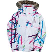 White Cross Hatch Spyder Bitsy Lola Jacket Girls