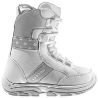 White / Gray Burton Grom Snowboard Boot Youth