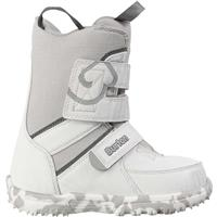 White / Gray Burton Grom Snowboard Boots Youth