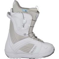 White / Gray Burton Mint Snowboard Boots Womens