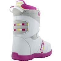 White / Gray / Pink Burton Zipline Boa Boot Youth Back