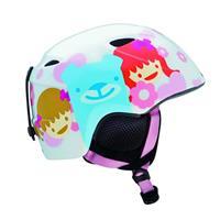 White Happy Girl Giro Slingshot Helmet Youth