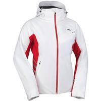 White / High Risk Red Kjus Oracle Jacket Womens