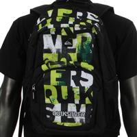 White / Lime Quiksilver Real Genuis Backpack Boys