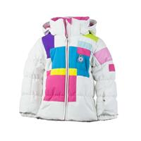 White Obermeyer Kitt Jacket Girls