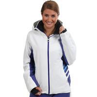 White / Orient Blue Kjus Oracle Jacket Womens