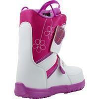 White / Pink Burton Mini Grom Snowboard Boot Youth