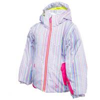 White Prism/Girlfriend/Sharp Lime Spyder Bitsy Glam Jacket Girls