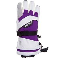 White / Purple Swany X Over II Gloves Youth