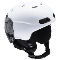 White RED Buzzcap Helmet Youth