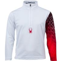White / Red Spyder Mini Linear Web Dry Web T Neck Boys