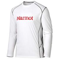 White/Team Red Marmot Windridge with Graphic LS Mens
