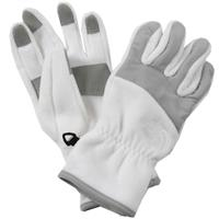 White The North Face Denali Gloves Womens