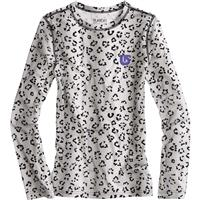 Winter Cat Print Burton Heartbreaker Crew Baselayer Top Girls