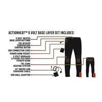 Black ActionHeat 5V Heated Base Layer Bottom Womens