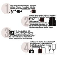 Black ActionHeat 5V Battery Heated Softshell Vest Womens