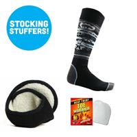 Womens Sock and Sherpa Ear Warmer Bundle