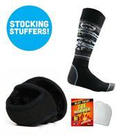 Womens Sock and Fleece Ear Warmer Bundle