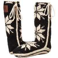 Black Woolrich Chalet Sock Womens