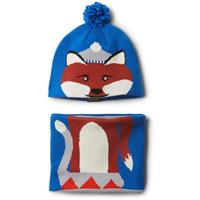 Super Blue Fox Columbia Infant Snow More Hat and Gaiter Set Youth