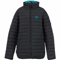 True Black / Evergold Spotted Leopard Burton Flex Puffy Jacket Youth