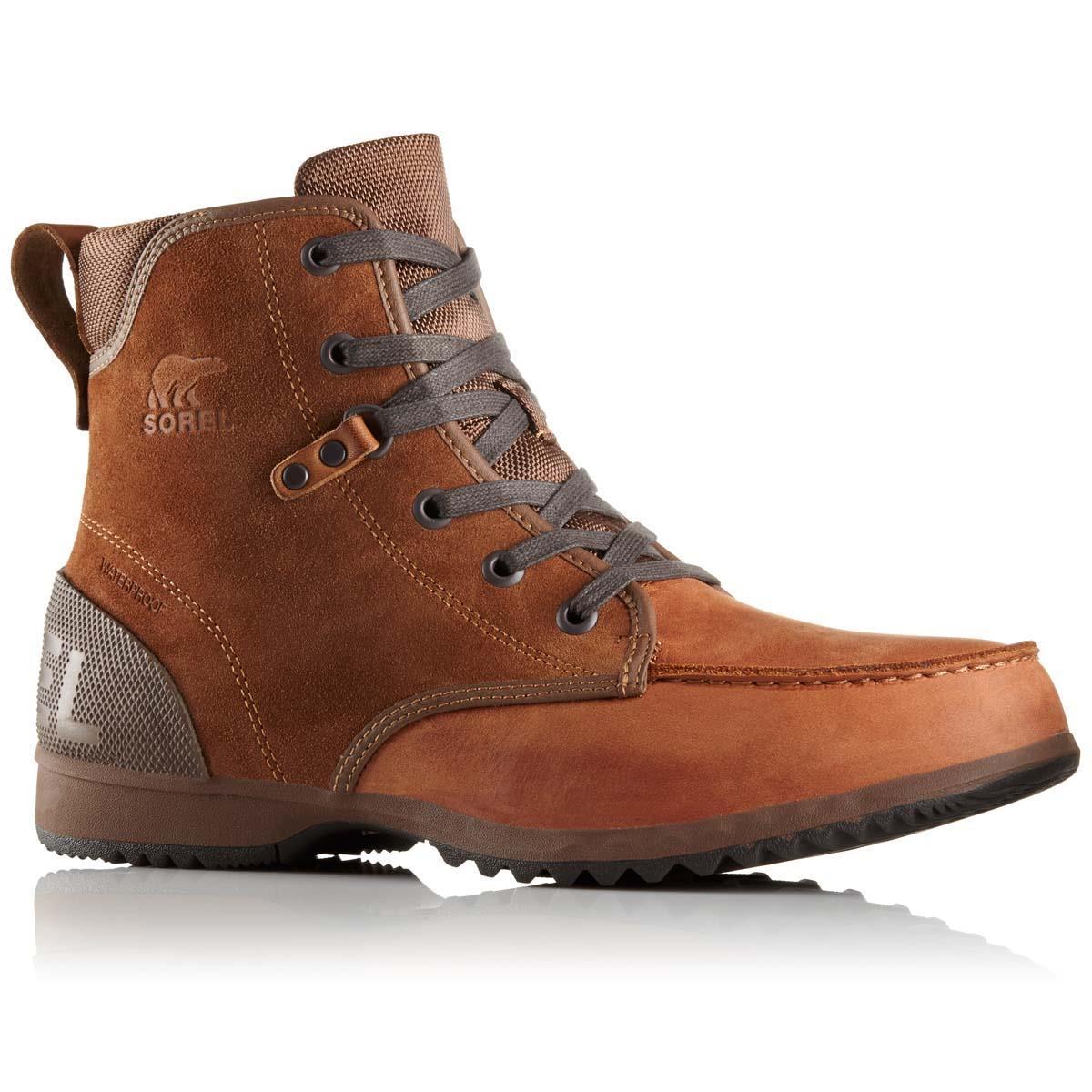 Faire Du Shopping sorel Ankeny Waterproof Leather And Rubber Boots - Brown Bonne Vente De La France À Faible Frais D'expédition 99cLjf