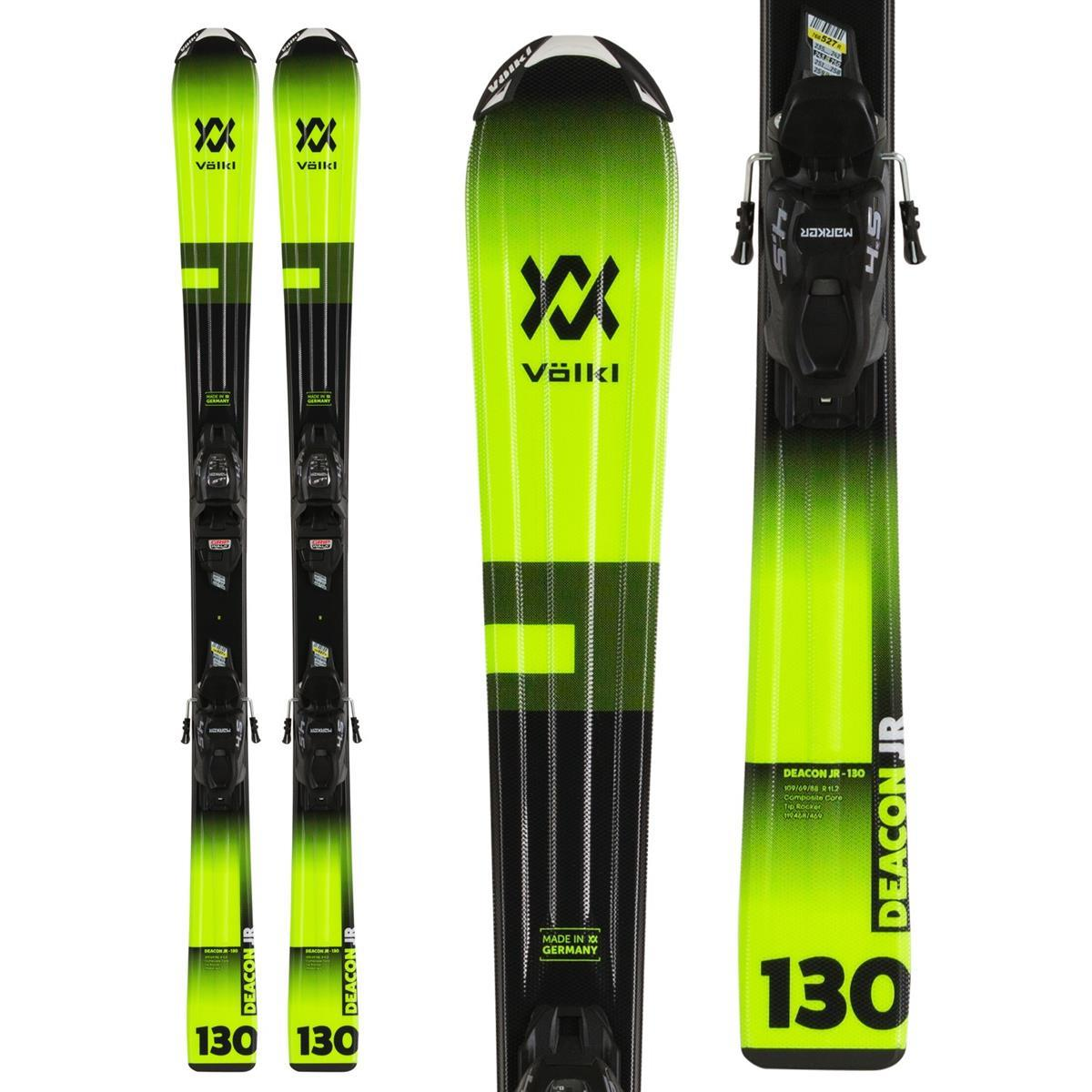Volkl Deacon Jr Skis Boys VMotion 4.5 Bindings 2020
