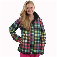 Roxy Jet Insulated Jacket - Women's - Multi Gingham