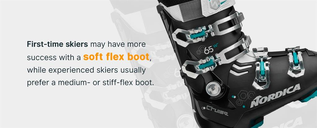 first time skiers may have more success with a soft flex boot