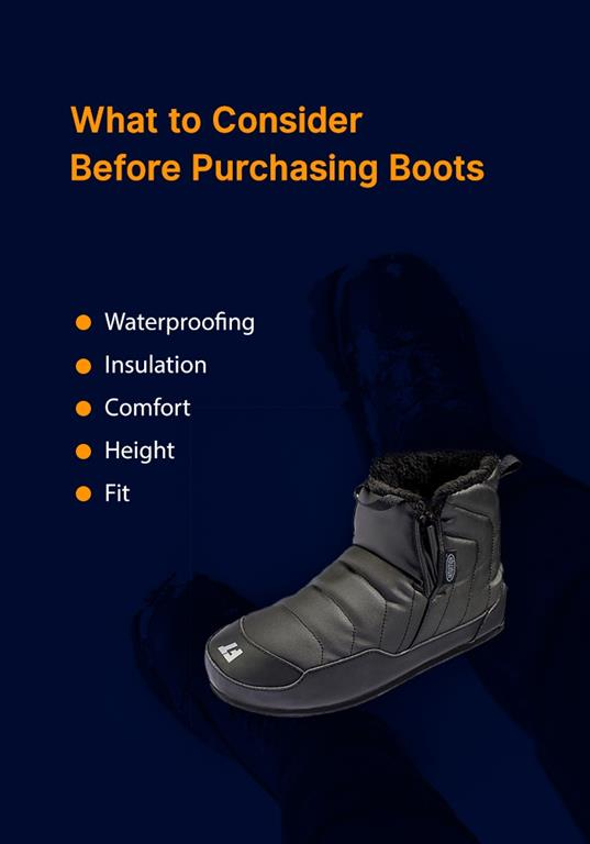 what to consider before purchasing winter boots
