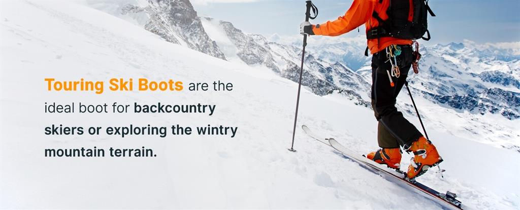 touring ski boots are ideal boots for backcountry skiers