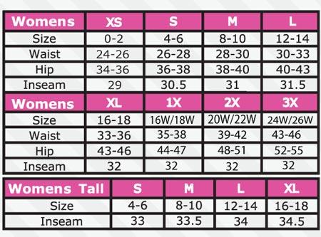 Womens Shoe Size Dimensions